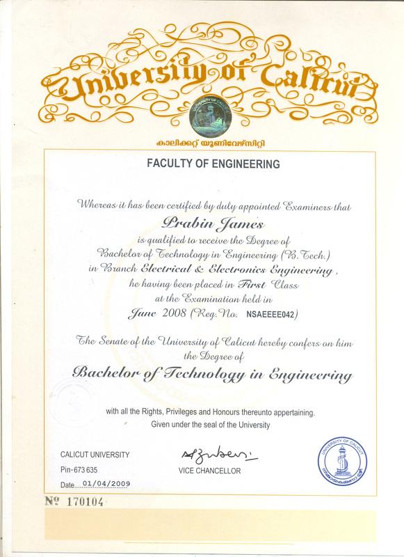 copy of certificates
